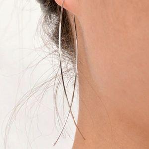NEW Silver Handmade Open Fish Shape Drop Earrings